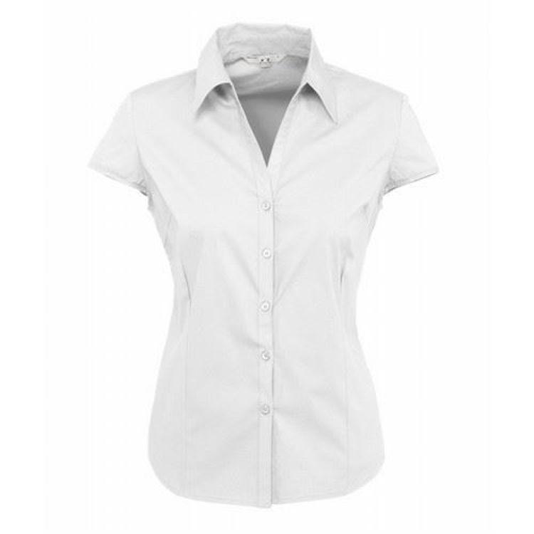 Picture of Ladies Cap Sleeve Metro Stretch Shirt