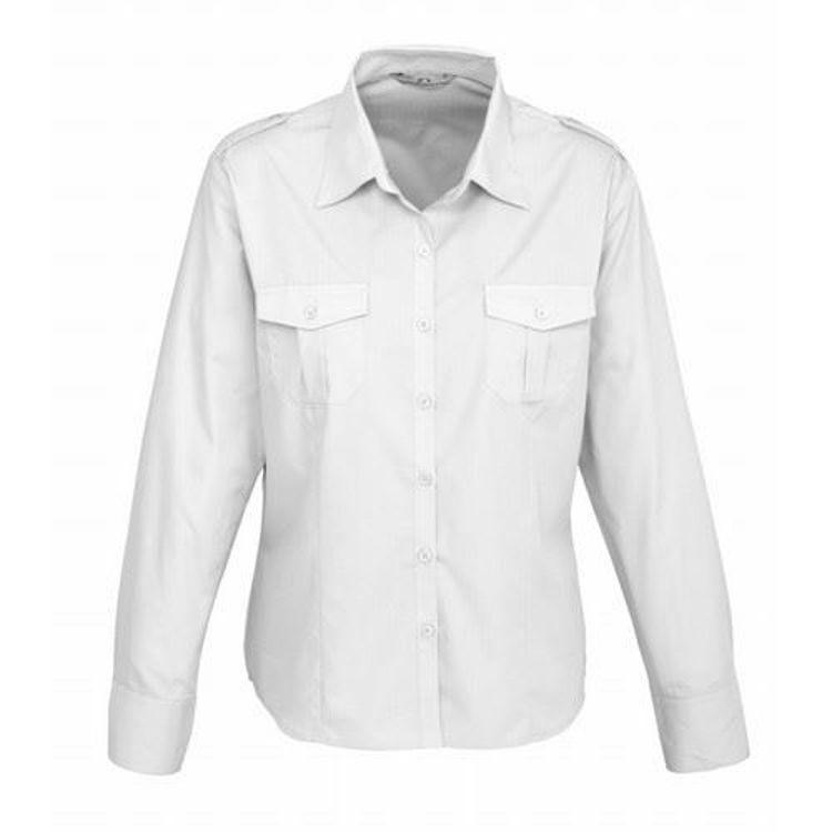 Picture of Ladies Long Sleeve Epaulette Shirt
