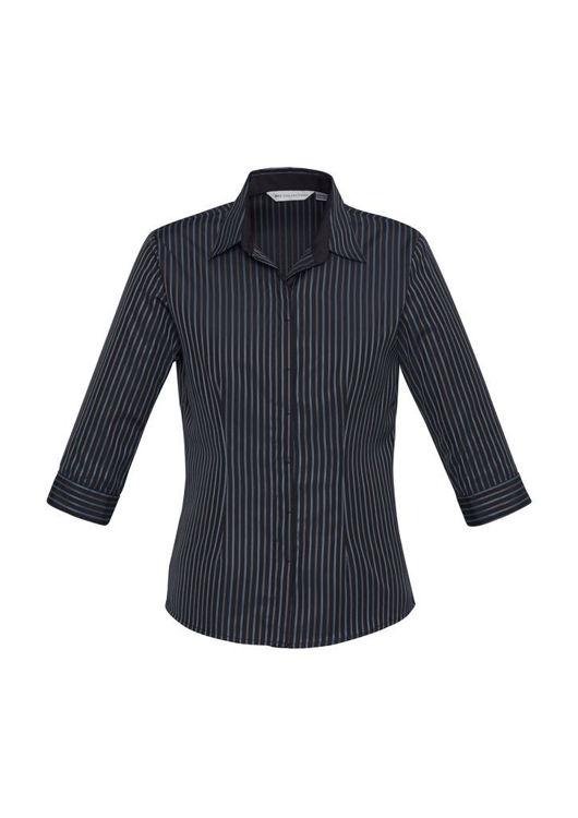 Picture of Ladies Reno Stripe 3-4 Sleeve Shirt