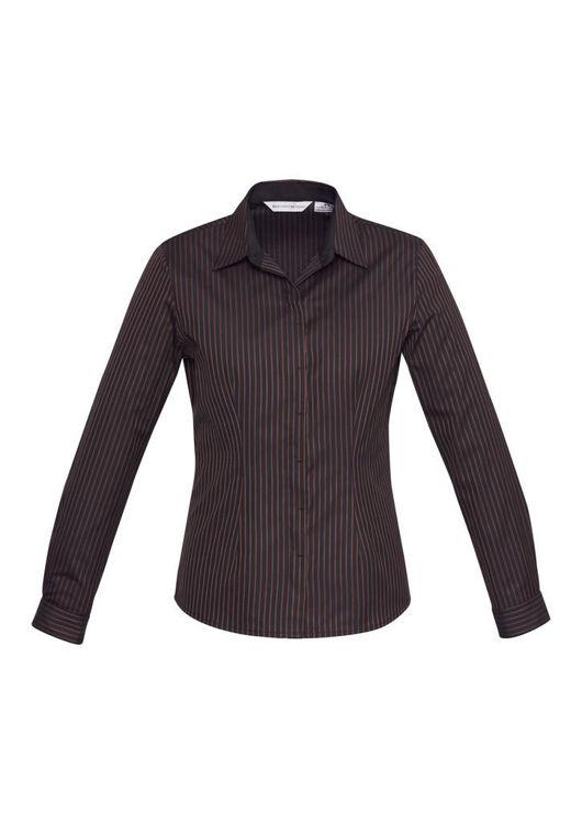 Picture of Ladies Reno Stripe Long Sleeve Shirt