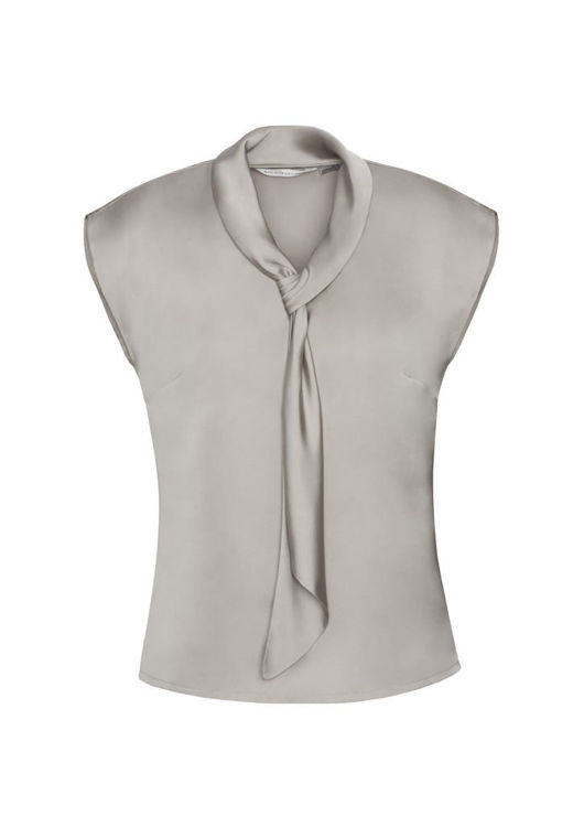 Picture of Ladies Shimmer Tie Neck Top