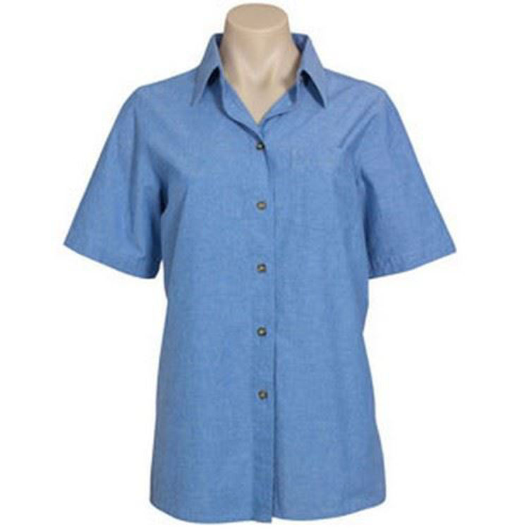 Picture of LADIES S-S CHAMB. SHIRT