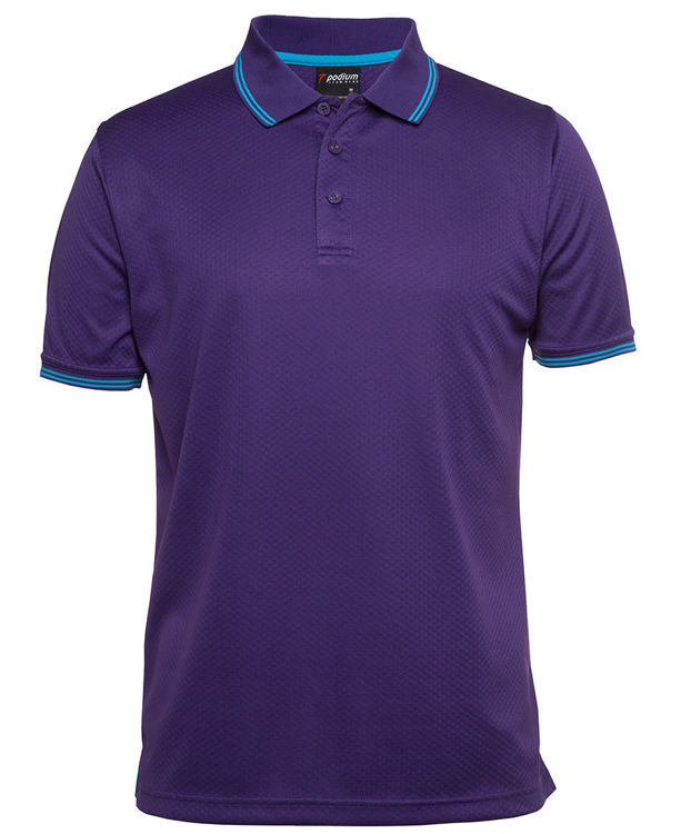 Picture of PODIUM JACQUARD CONTRAST POLO