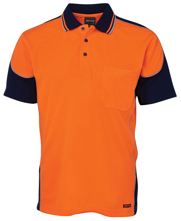Picture of JB'S HI VIS CONTRAST PIPING POLO