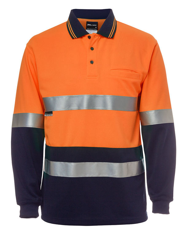 Picture of JB'S HI VIS L-S (D+N) TRAD POLO
