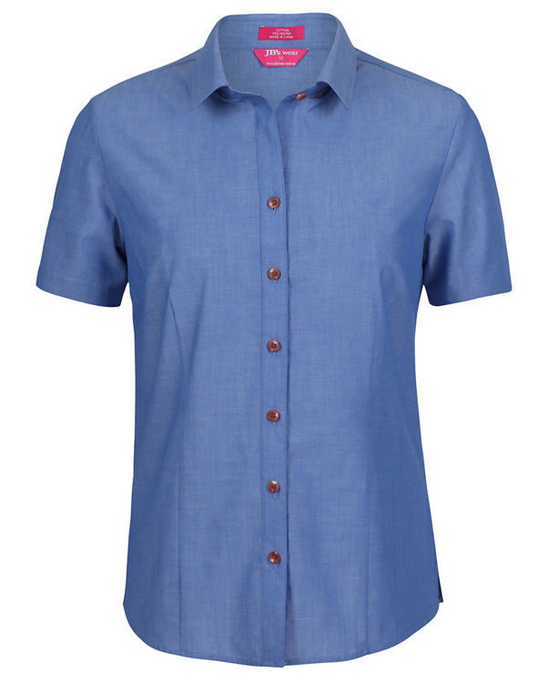 Picture of JB's LADIES CLASSIC S/S FINE CHAMBRAY