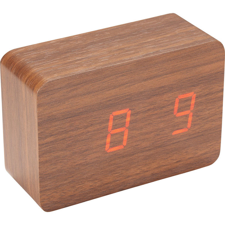 Picture of LED Display Clock - Wood